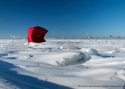 Abri de pêche sur glace